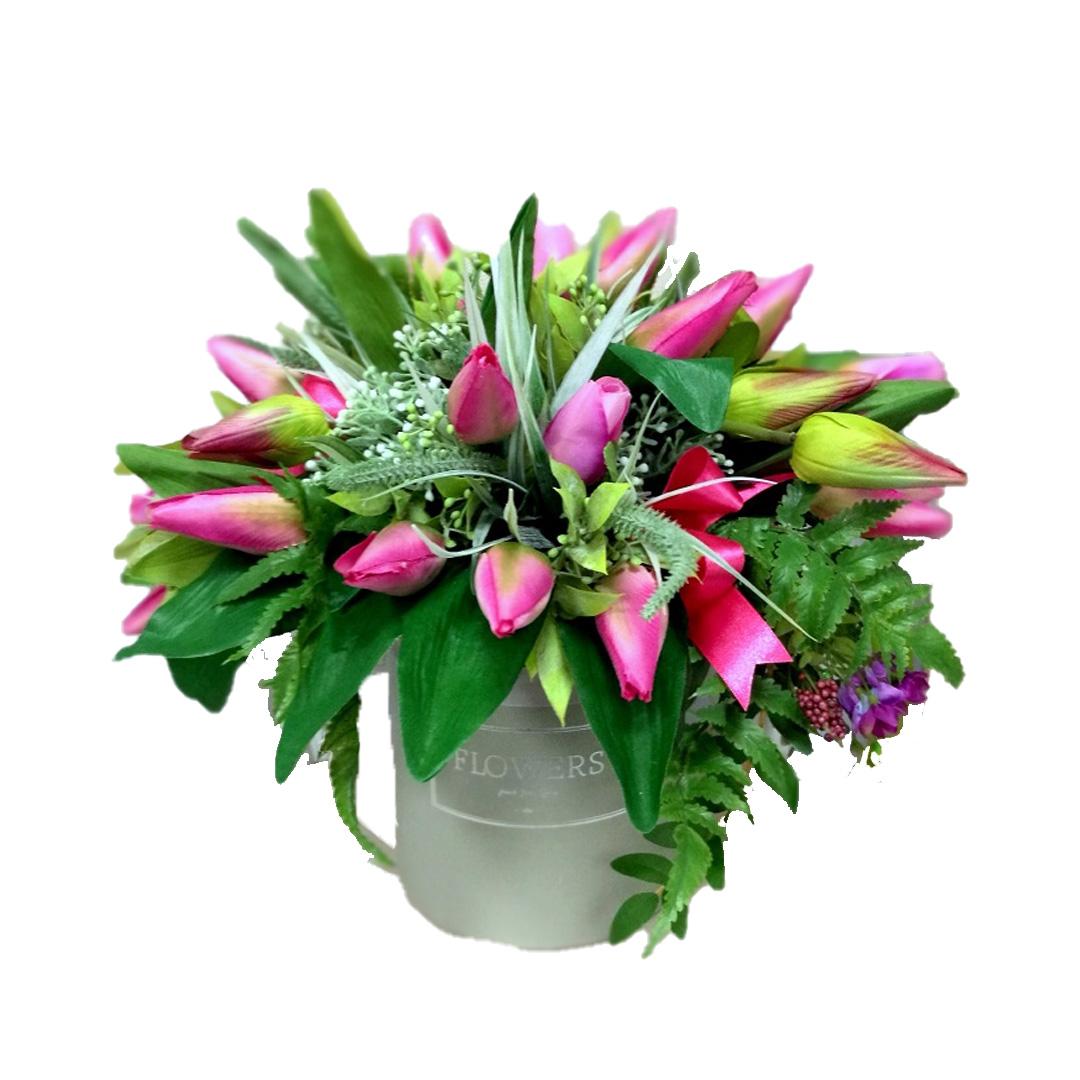 Wiosenne kwiaty we flower boxie nr 417