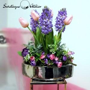 Tulipany i hiacynty w wiosennej kompozycji nr 425