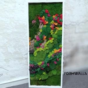 Zielony obraz Tęcza 100x 40 cm