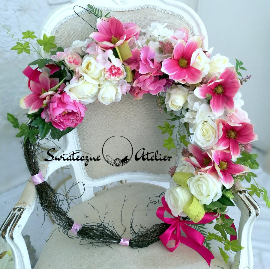 Wianek z magnolią i stroik nr 451