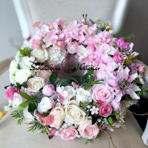 Wianek wiosenny Pudrowy róż nr 171