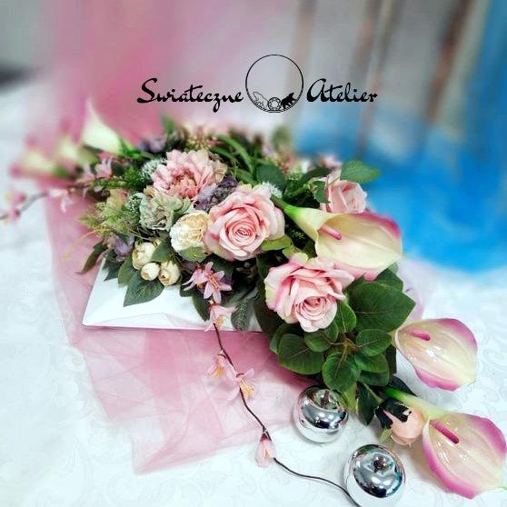 Dekoracja kwiatowa Pastelowe wspomnienia nr 517