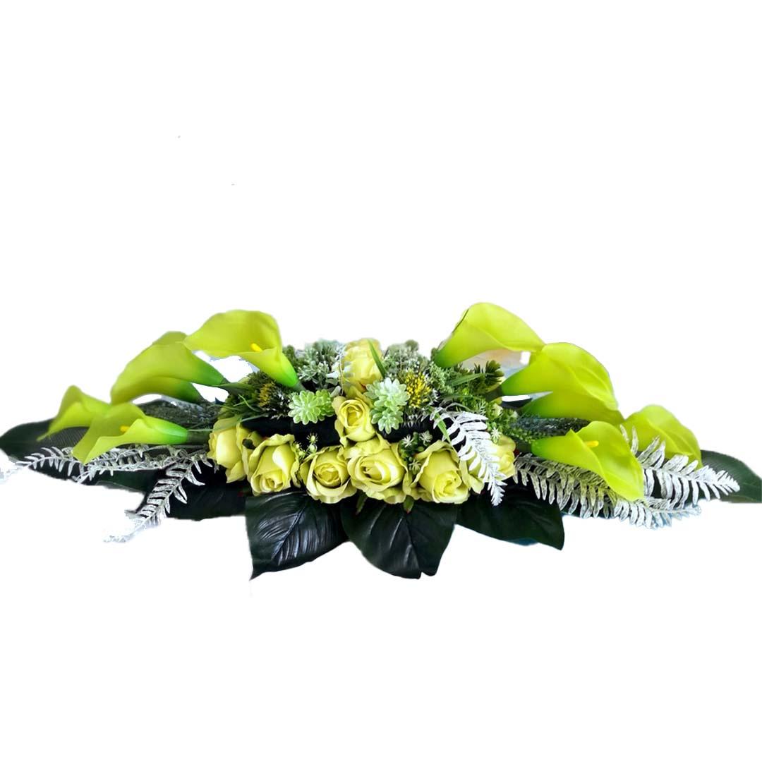 Nowoczesna dekoracja nagrobna Zielona kalia 510