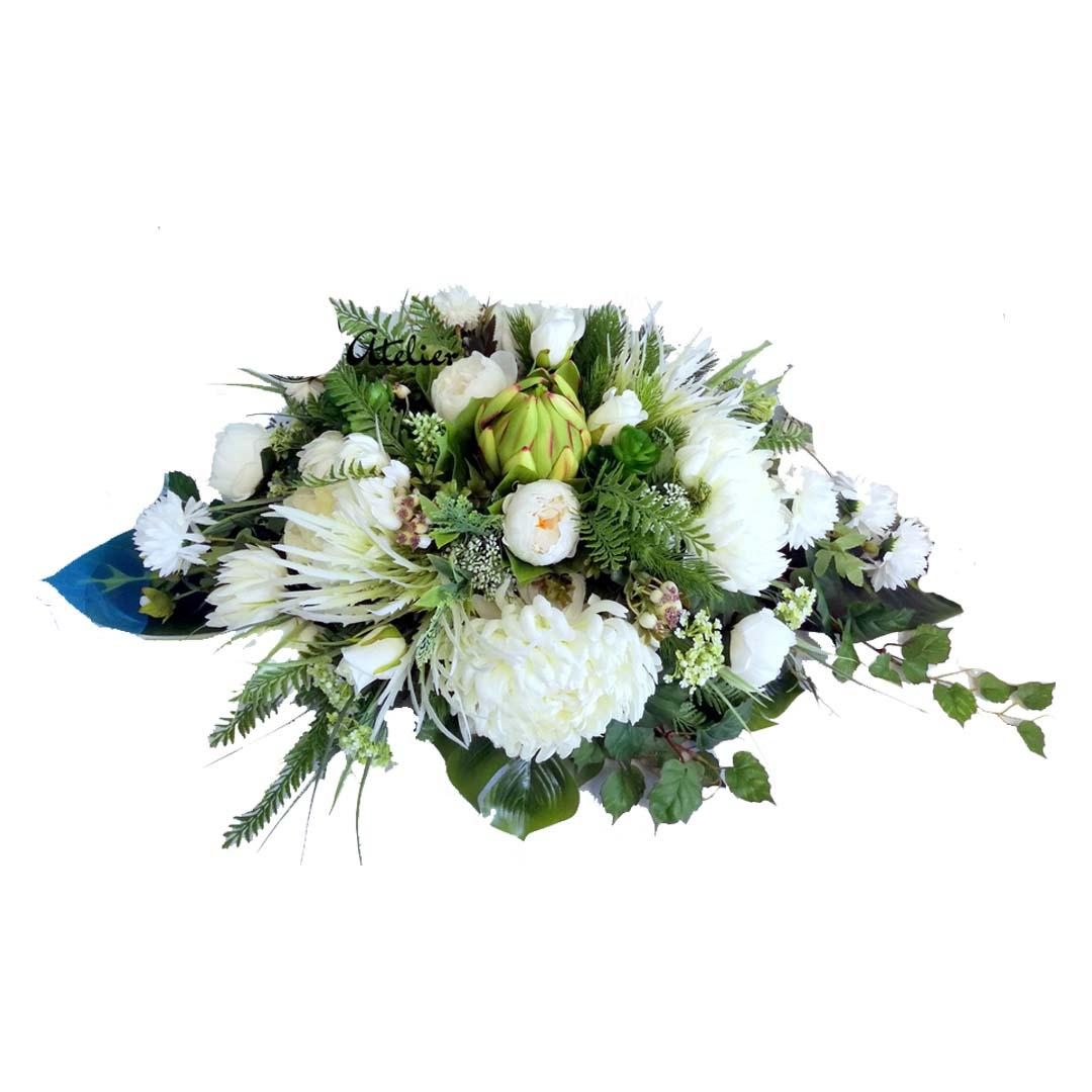 Dekoracja nagrobna Białe chryzantemy nr 563