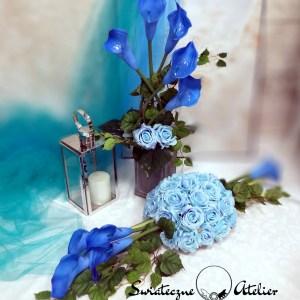 Zestaw na cmentarz Niebieska kalia nr 550
