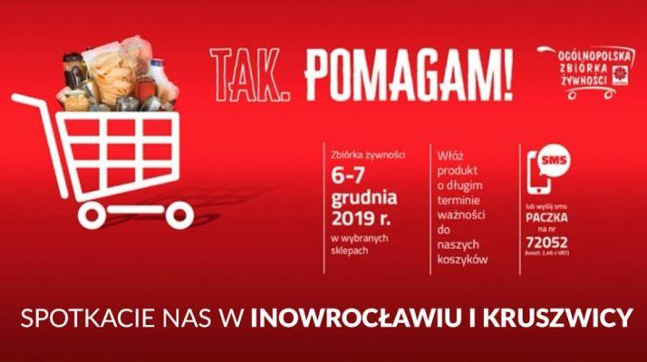 TAK POMAGAM! zbiórka żywności w Inowrocławiu i Kruszwicy