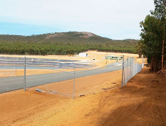 north bannister waste facility security fencing