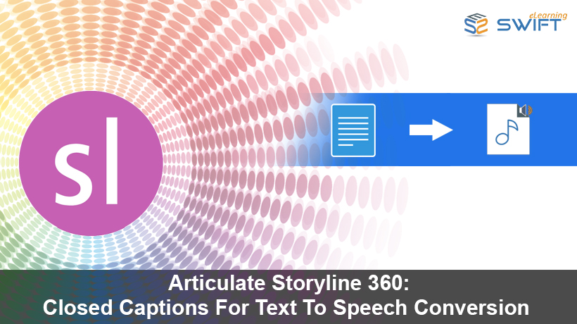 Closed Captions For Text To Speech Conversion