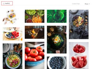 Search for the related image from Search Content Library and select the required image.