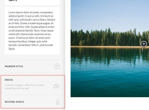 You can also upload related Media like images and record audio.