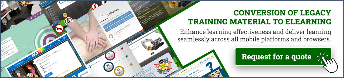Legacy course conversion - ILT to elearning