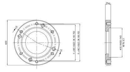 "3"" (80NB) Weld Pad - STF7007"