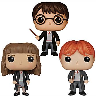 Funko Pop Harry Potter 3 Pack Harry Potter, Ron Weasley & Hermione Granger