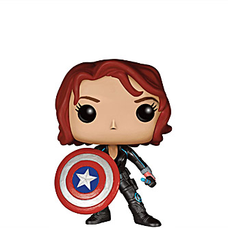 Funko Pop Marvel Avengers Age of Ultron 103 Black Widow with Shield