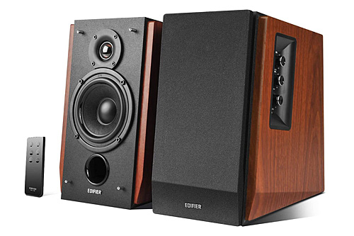 Edifier R1700BT Active Powered Bookshelf Speakers - Wood