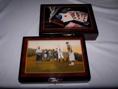LAS VEGAS COLLECTION CARD BOX AND CARDS - GOLF STYLE