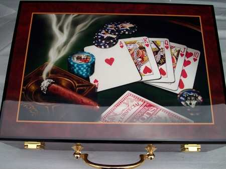 500 PIECE LAS VEGAS COLLECTION POKER SET WITH ATTACHED CASE