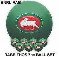 "2"" ARAMITH NRL CLUB LOGO BALL SETS - South Sydney Rabbitohs"