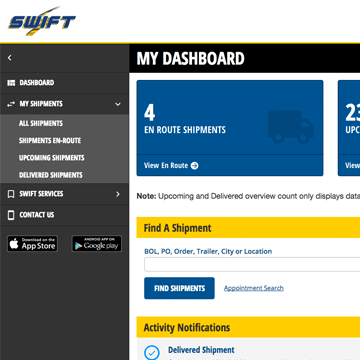 Track Your Shipments With The Swift Freight Tracker