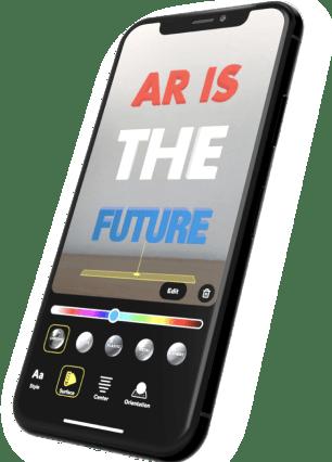 Custom creation tools in AR
