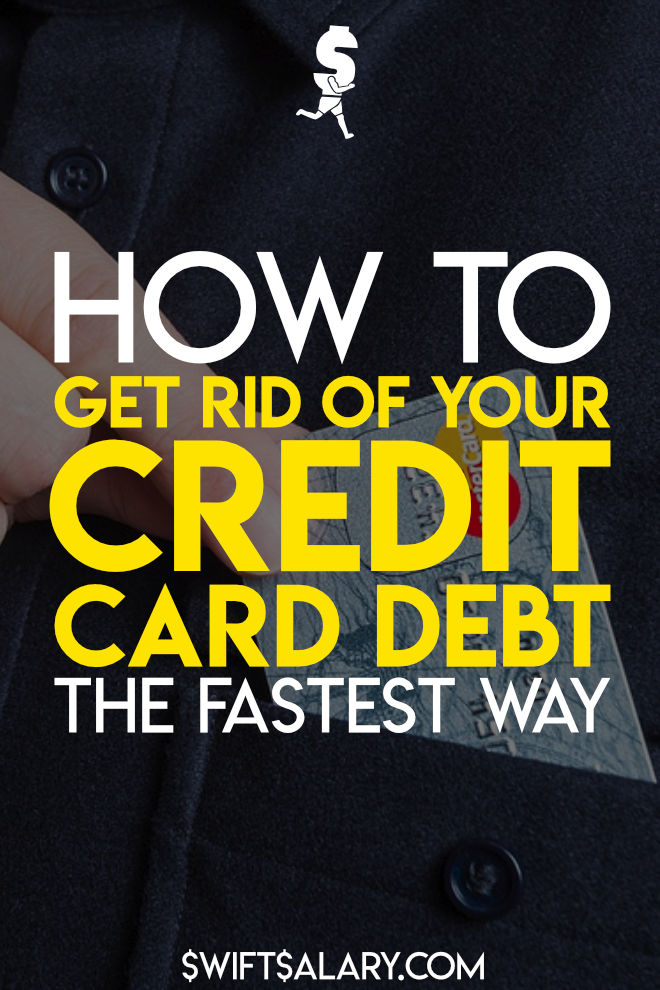 Credit card debt is one of the worst kinds of debt, and it has a big impact on your health & happiness. That's why I want to show you how to get rid of credit card debt FAST. I want you to pay as LITTLE interest as possible while you're paying off your credit card debt. Click for credit card debt tips or pin me for later! You won't regret it.