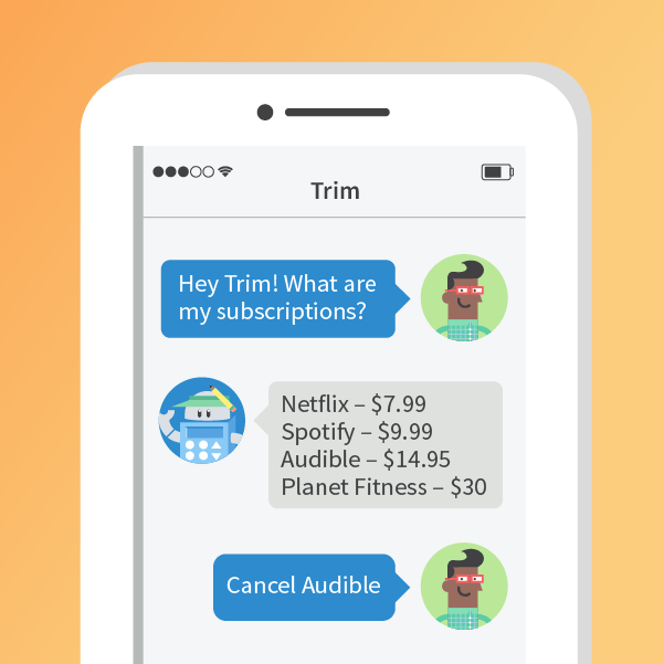 Trim subscriptions