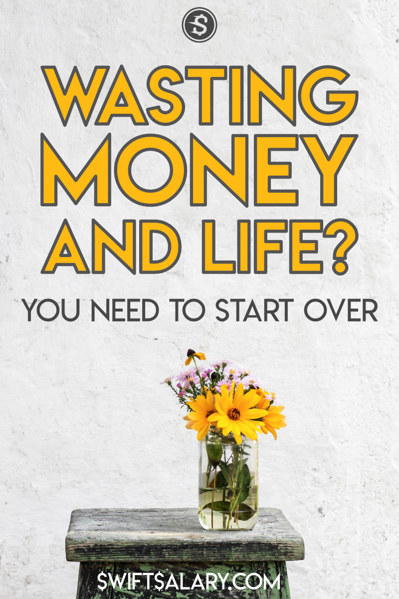 Wasting money and life pinterest pin