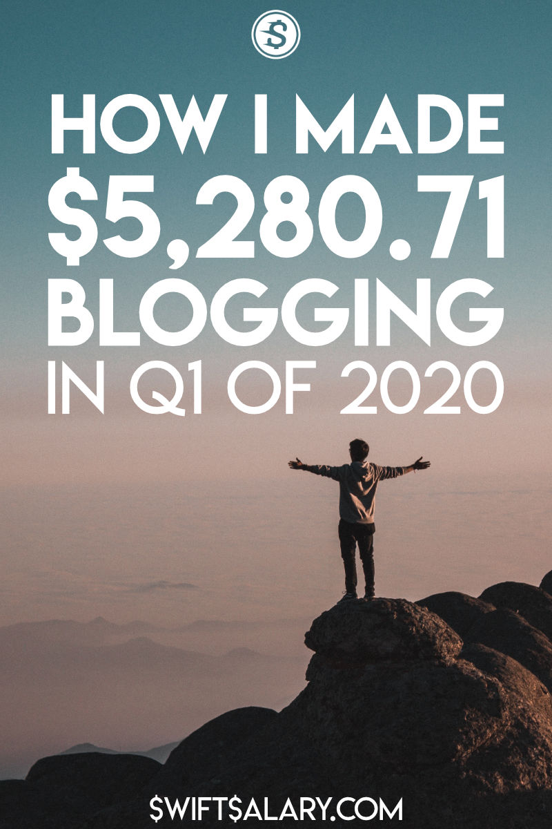 How I made $5,280.71 blogging in Q1 of 2020