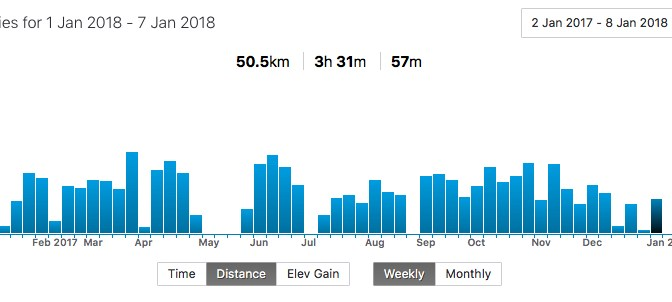 My Strava activity graph for 2017