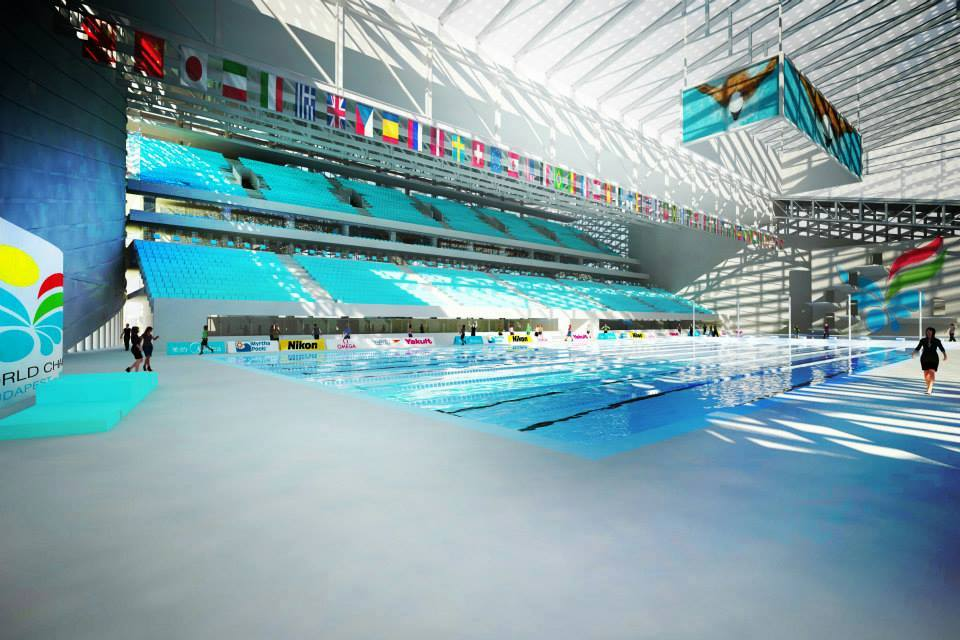 Hungary reveals first pictures of the budapest 2021 fina - Margaret island budapest swimming pool ...
