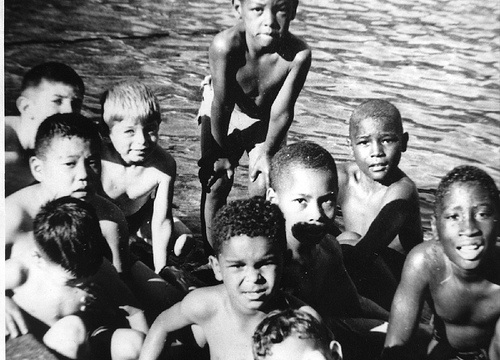 african american swimming photo