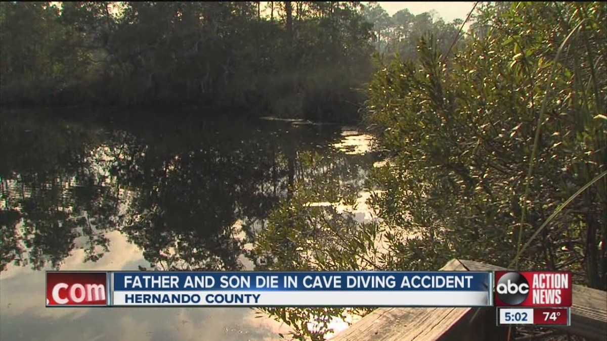 Father and son die in cave diving accident while trying out Christmas presents