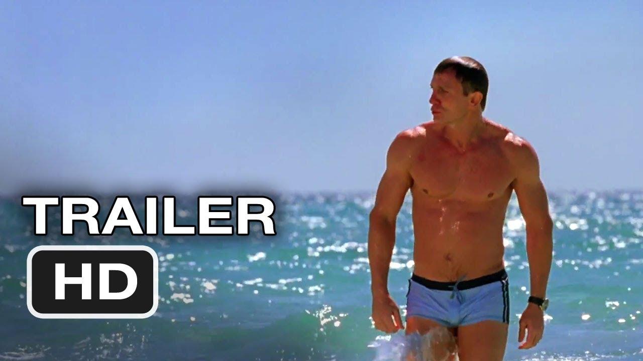 8b417e33ec Daniel Craig Reveals the Story Behind That Iconic Blue Swim Trunks Photo
