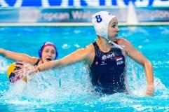 8 KESZTHELYI Rita HUN LEN European Water Polo Championships 2016 Women HUN - RUS Hungary (White) Vs Russia (Blue) Kombank Arena, Belgrade, Serbia Day09 18-01-2016 Photo G. Scala/Insidefoto/Deepbluemedia