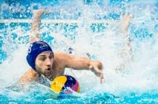8 BAGHATURIA Mikheil GEO LEN European Water Polo Championships 2016 Men TUR - GEO Turkey (white) vs Georgia (blue) Kombank Arena, Belgrade, Serbia Day12 21-01-2016 Photo G. Scala/Insidefoto/Deepbluemedia