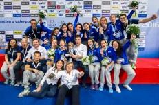 Podio Team Italy Bronze Medal LEN European Water Polo Championships 2016 Kombank Arena, Belgrade, Serbia Day13 22-01-2016 Photo G. Scala/Insidefoto/Deepbluemedia