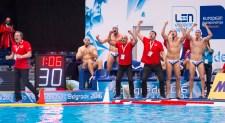 LEN European Water Polo Championships 2016 Slovakia SVK (White) Vs Georgia GEO (Blue) Men Team Slovakia Head Coach ESTELLER Antonio SVK Kombank Arena, Belgrade, Serbia Day13 22-01-2016 Photo P. Mesiano/Insidefoto/Deepbluemedia