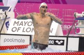 Camille LACOURT FRA Gold Medal 50m Backstroke Men Final London, Queen Elizabeth II Olympic Park Pool LEN 2016 European Aquatics Elite Championships Swimming Day 11 19-05-2016 Photo Andrea Staccioli/Deepbluemedia/Insidefoto