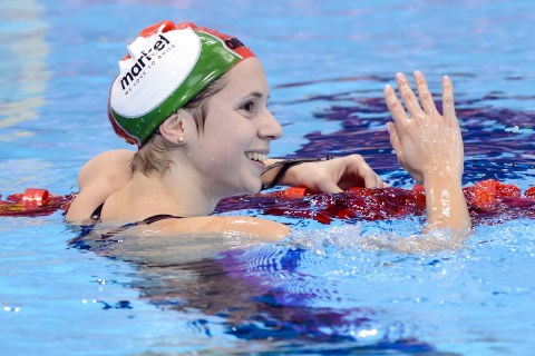 Boglarka KAPAS HUN Gold Medal 1500m Freestyle Women Final London, Queen Elizabeth II Olympic Park Pool LEN 2016 European Aquatics Elite Championships Swimming Day 13 21-05-2016 Photo Andrea Staccioli/Deepbluemedia/Insidefoto