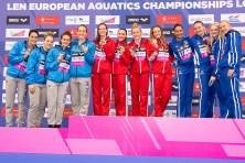 Team ITA, Team GBR, Team FIN 4x100 medley relay London, Queen Elizabeth II Olympic Park Pool LEN 2016 European Aquatics Elite Championships Day 7 swimming Medals Day 14 22-05-2016 Photo Giorgio Scala/Deepbluemedia/Insidefoto