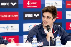 Chris Mears GBR diving London, Queen Elizabeth II Olympic Park Pool LEN 2016 European Aquatics Elite Championships Press Conference Day 00 07-05-2016 Photo Giorgio Scala/Deepbluemedia/Insidefoto