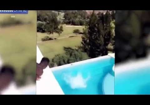 AC Milan star M'Baye Niang under fire over reckless jump from balcony into a swimming pool