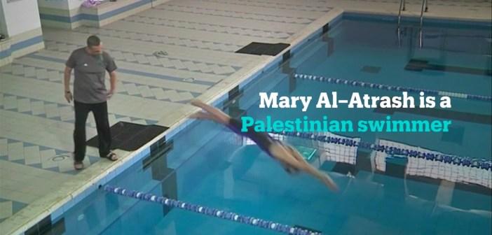 Palestinian swimmer Mary Al-Atrash cannot wait to make a splash at the Rio Olympics