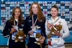 Podium 100 Freestyle Women Final LEN 43rd Arena European Junior Swimming Championships Hodmezovasarhely, Hungary Day02 07-07-2016 Photo Andrea Masini/Deepbluemedia/Insidefoto