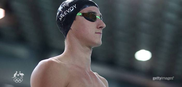 What will Cam McEvoy's coach say to him before the 100m freestyle final?