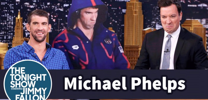 Michael Phelps gets the life-size 'Phelps Face' cutout he deserves