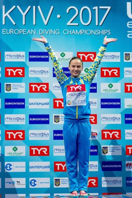 Anna PYSMENSKA UKR Gold medal 3m. springboard women LEN European Diving Championships 2017 Sport Center LIKO, Kiev UKR Jun 12 - 18, 2017 Day04 15-06-2017 Photo © Giorgio Scala/Deepbluemedia/Insidefoto