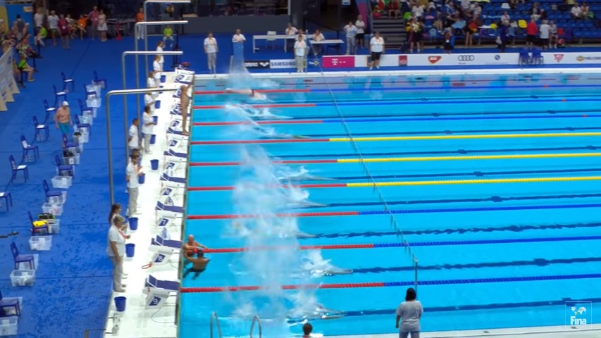 Denied a minute's silence, Spanish swimmer stands for Barcelona