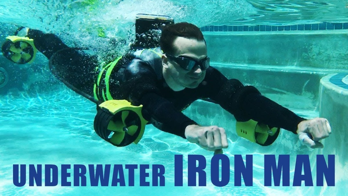 DIY engineers create 'Iron Man' jetpack that lets you swim faster than Michael Phelps