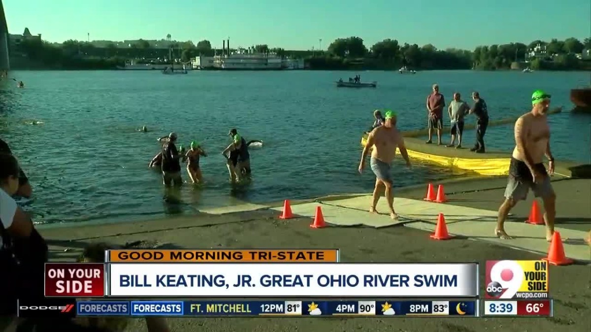 Swimmers cross Ohio River